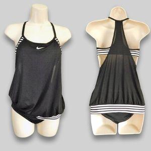 Nike Women's Layered Sport Tankini Swimsuit Set